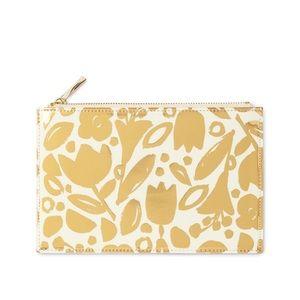 Kate Spade ♠️ Golden Floral pencil pouch